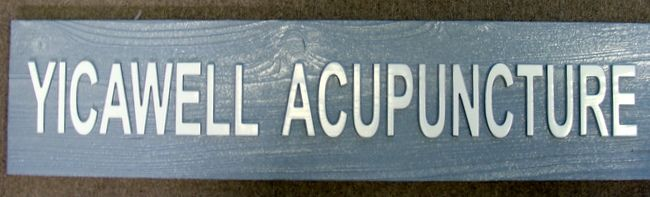 B11167- Carved Cedar Wood Office Sign for Acupuncturist Office