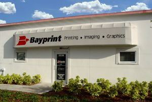 Photo of Bayprint building, commercial printer in St. Petersburg.