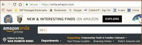Click on Smile.amazon.com