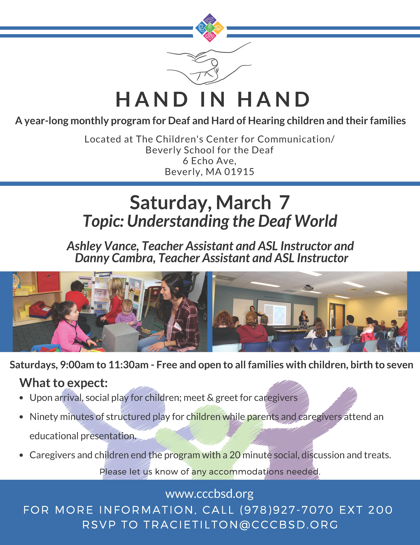 "Hand in Hand ""Understanding the Deaf World"""