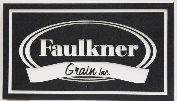 S28186 - Carved  2.5-D HDU Sign for Faulkner Grain, Inc.