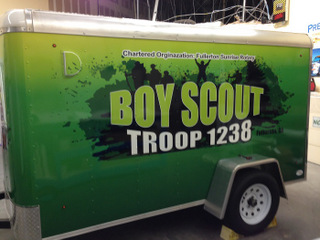 Utility trailer wraps Orange County