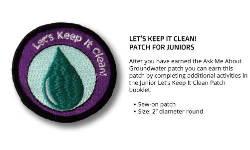 "Junior ""Let's Keep It Clean"" Patch"