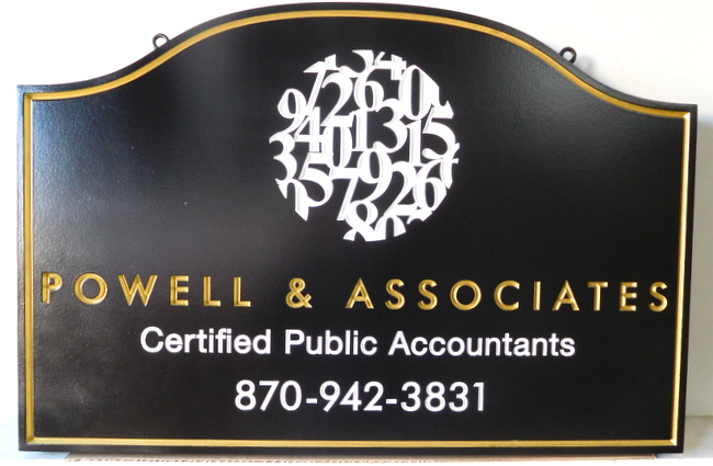 SM14 - Carved 2.5D CPA Office Sign, with Numbers Logo (Gallery 12)