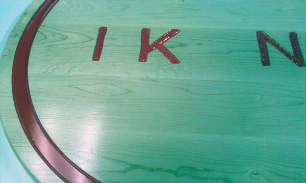 CNC ROUTED MAPLE SIGN