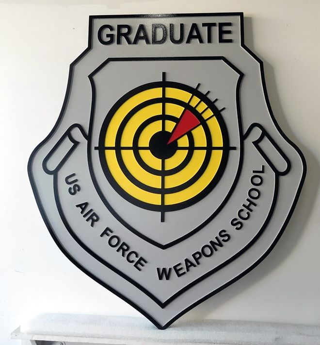 V31666A- Carved Wall Plaque of the Crest for the USAF Weapons School