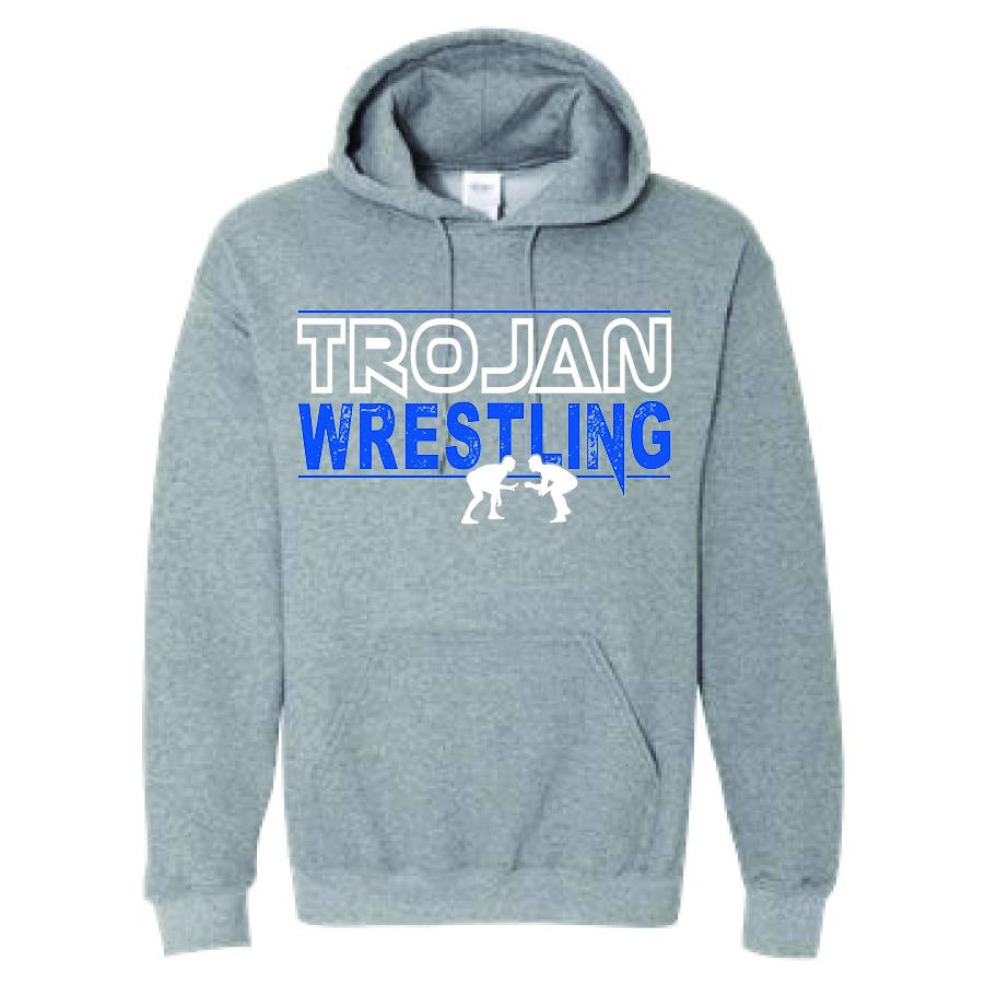 Auburn Wrestling Hoodie - (Gray)