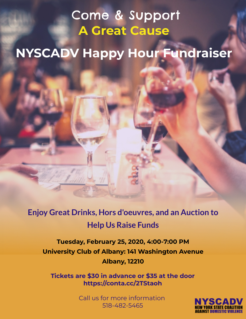 NYSCADV Happy Hour Fundraiser