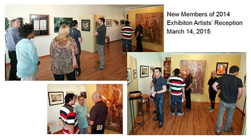 2015 - New Members of 2014 - Artists' Reception - March