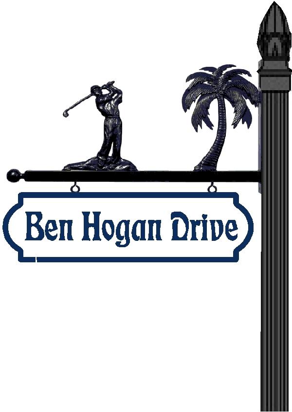 H17009 - Golfer Street Sign