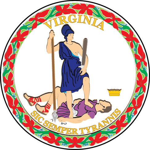 W32510 -  Seal of the State of Virginia Wall Plaque