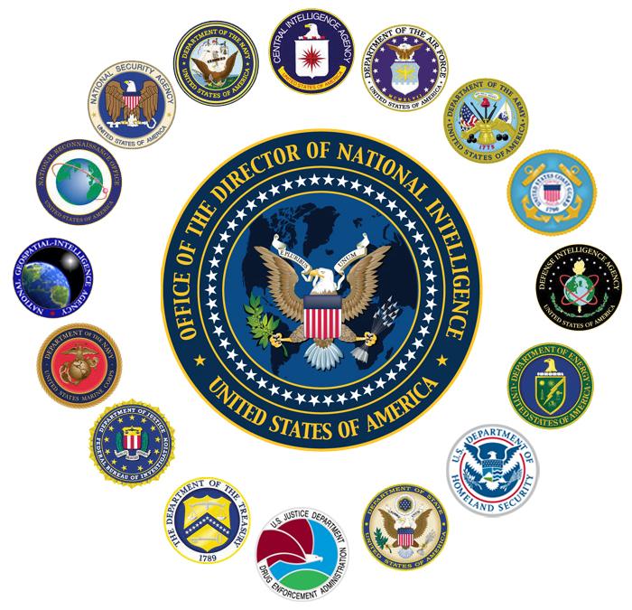 AP-3010 - Carved Plaques of the Seals for US Intelligence Agencies,  with the Office of the Director of National Intelligence at the Center, Artist Painted
