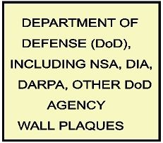 V31100 - Department of Defense (DoD) and DoD Agencies Carved Wood Wall Plaques