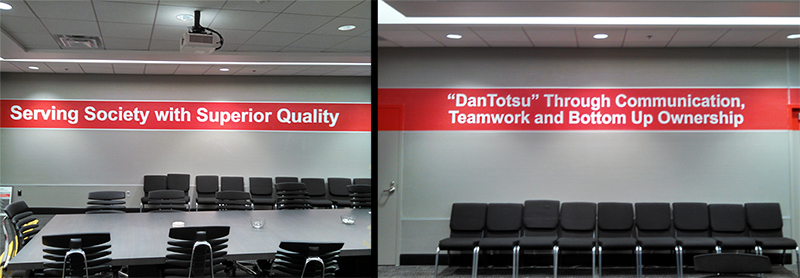 Conference Room Wall Lettering