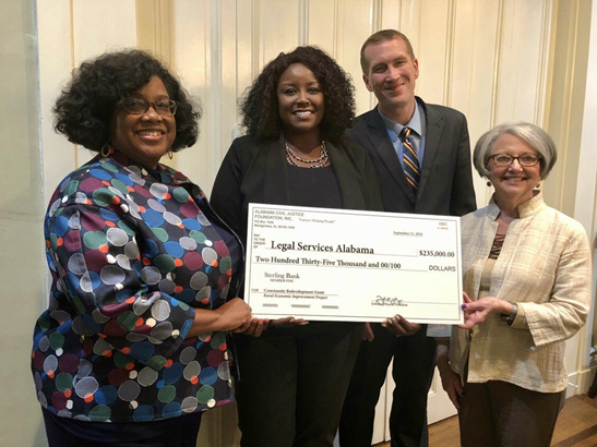 Alabama Civil Justice Foundation Awards $235,000 Grant to LSA