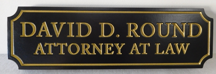 A10495 - Carved High Density Urethane Sign for an Attorney AT Law