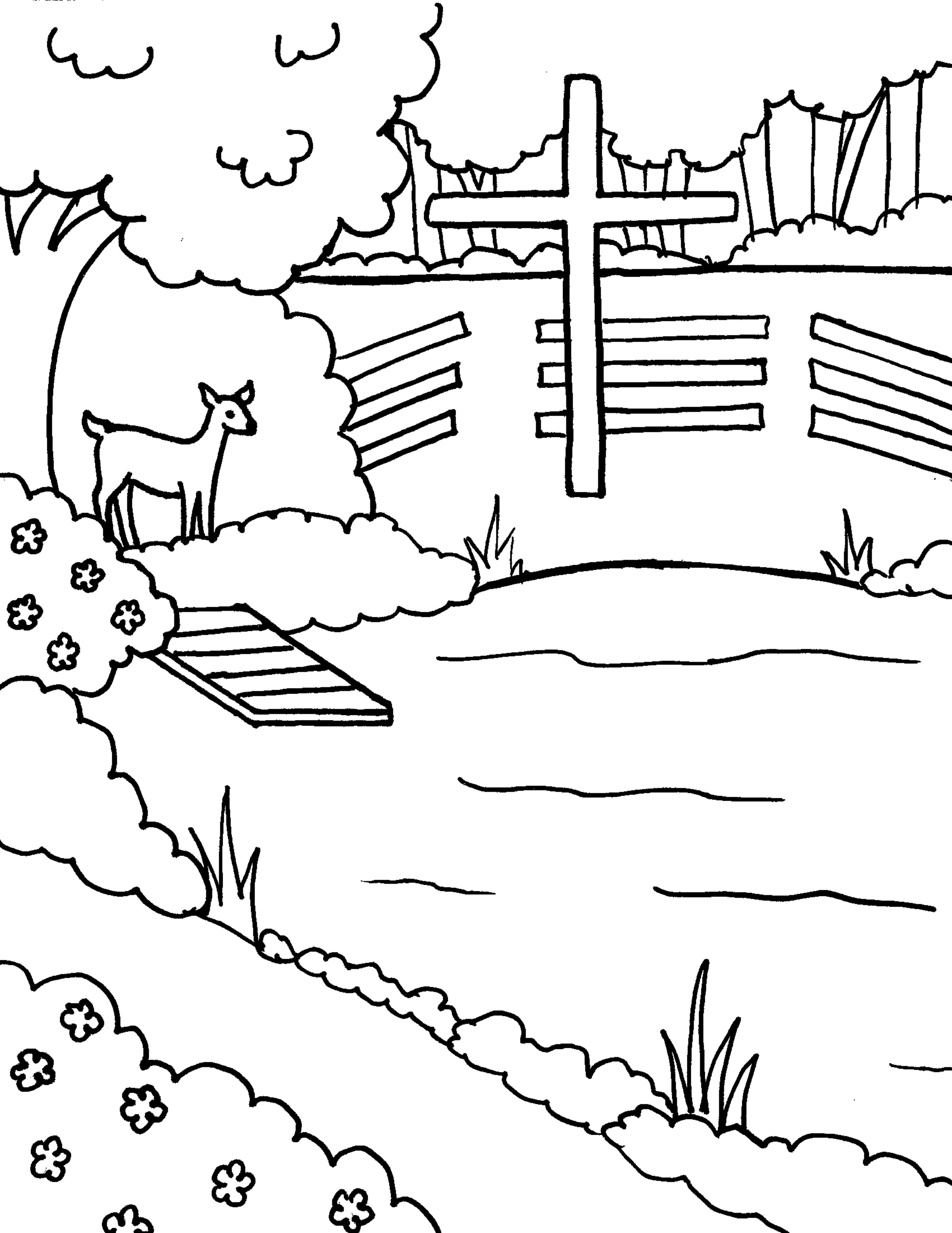 Lakeside Chapel Coloring Page (JPG)