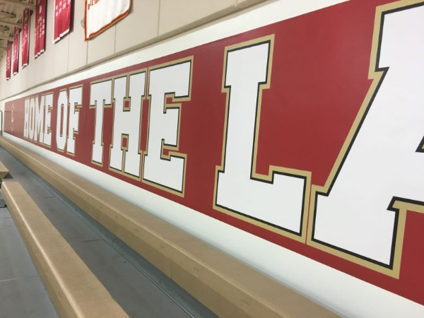 Gym wall graphics for schools in Los Angeles County