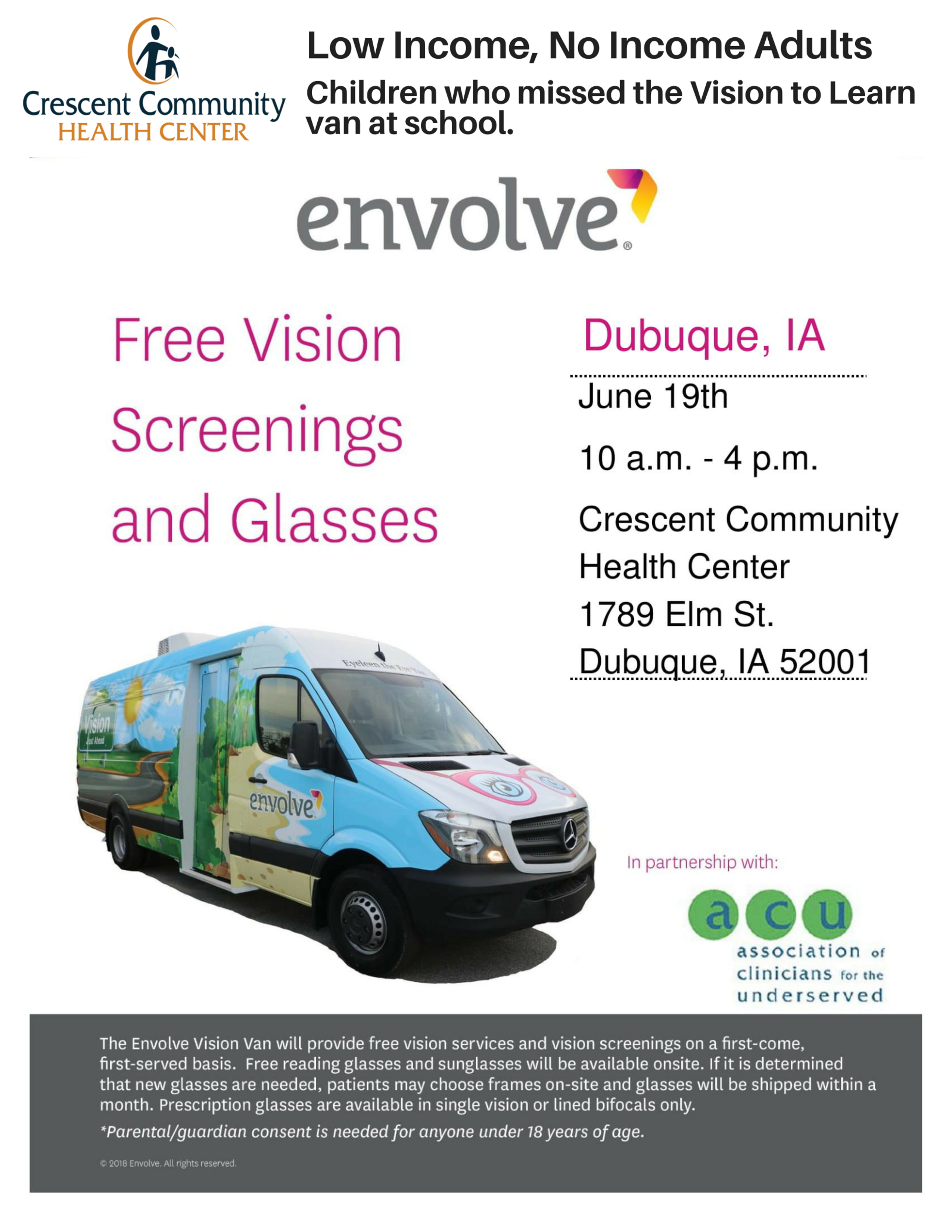 Free Vision Screenings and Glasses