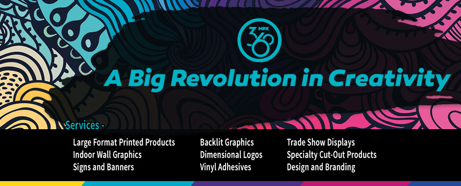 Backlit displays, tradeshow products, signage, banners.