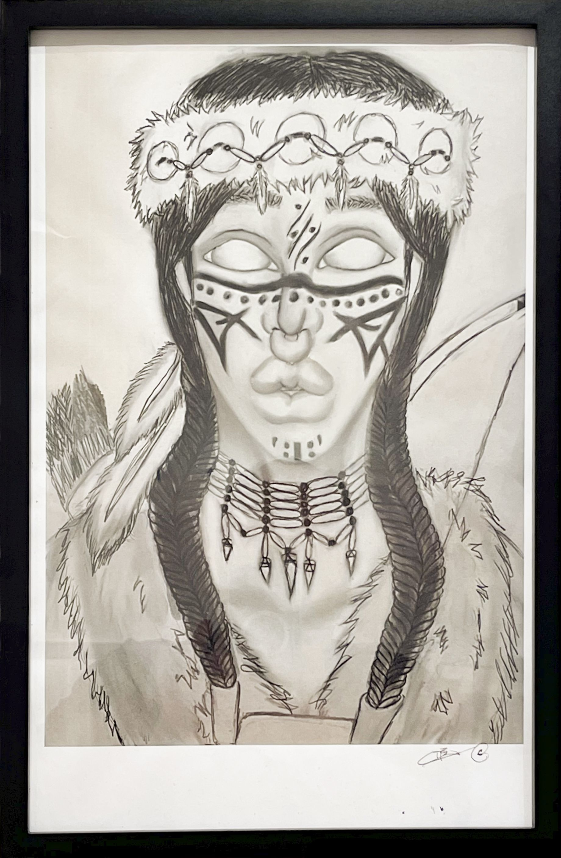 """""""Warrior X'éigga Káa"""" - Deandra Reyes"""