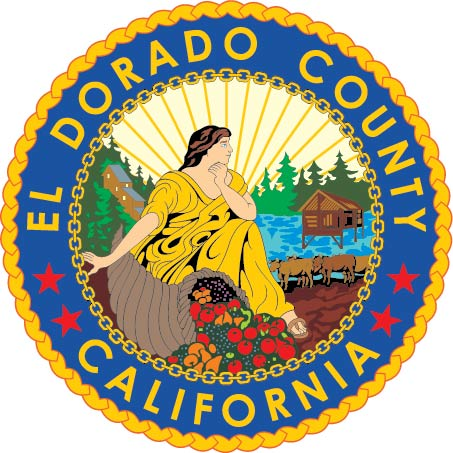 CP-1160 -  Carved Plaque of the Seal of El Dorado  County, California,  Artist Painted