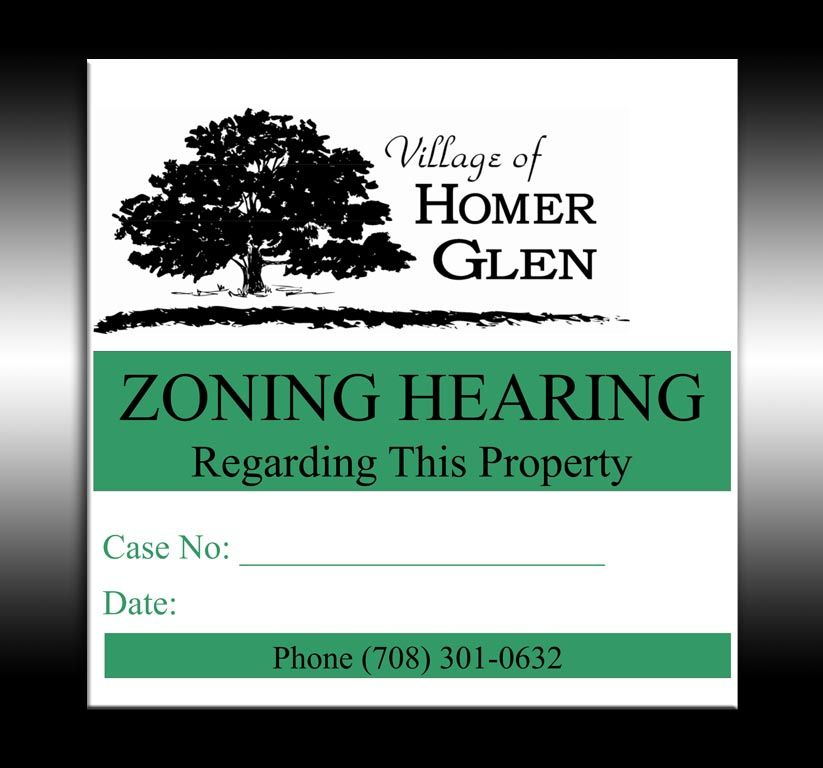 Homer Glen Zoning Hearing