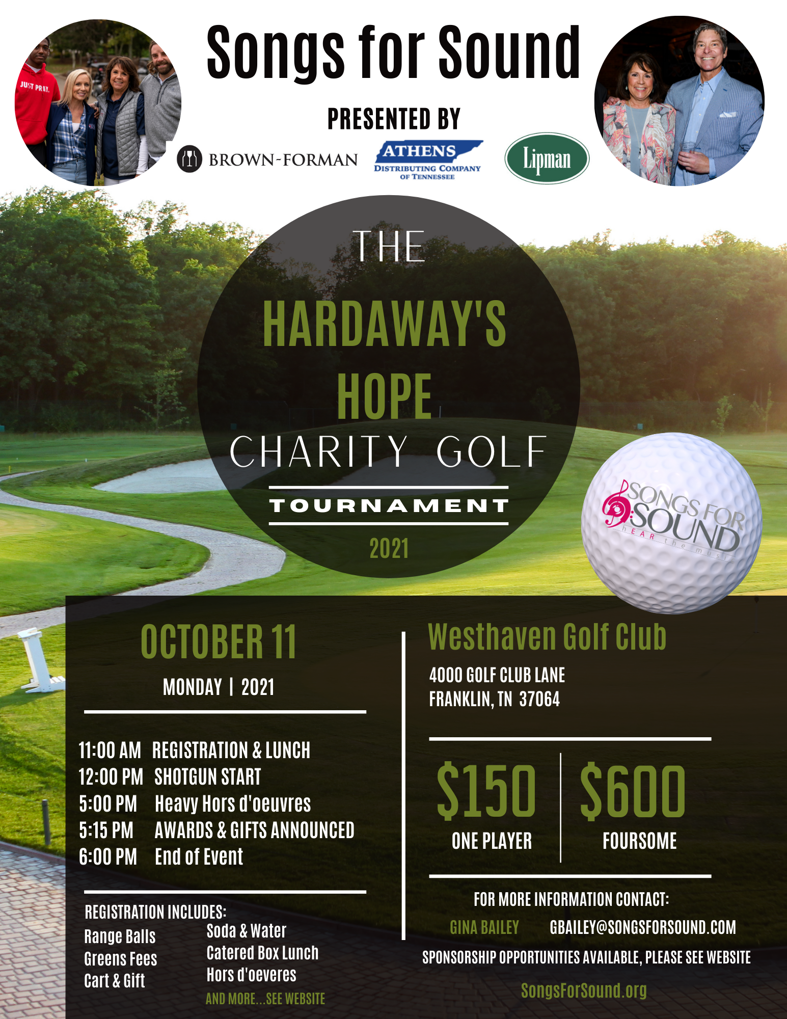 Hardaway's Hope Golf Outing Sponsorship Opportunities