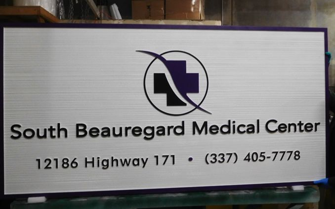 B11006A - Large, carved, HDU Sign for Medical Center with Logo