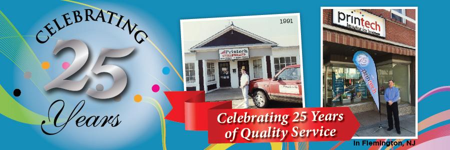 Printech Celebrating 25 Years!
