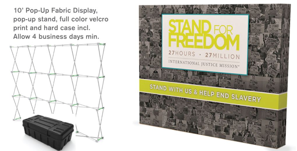 10' Pop-Up Fabric Display