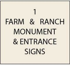 O24000 - Farm and Ranch Monument and Entrance Signs