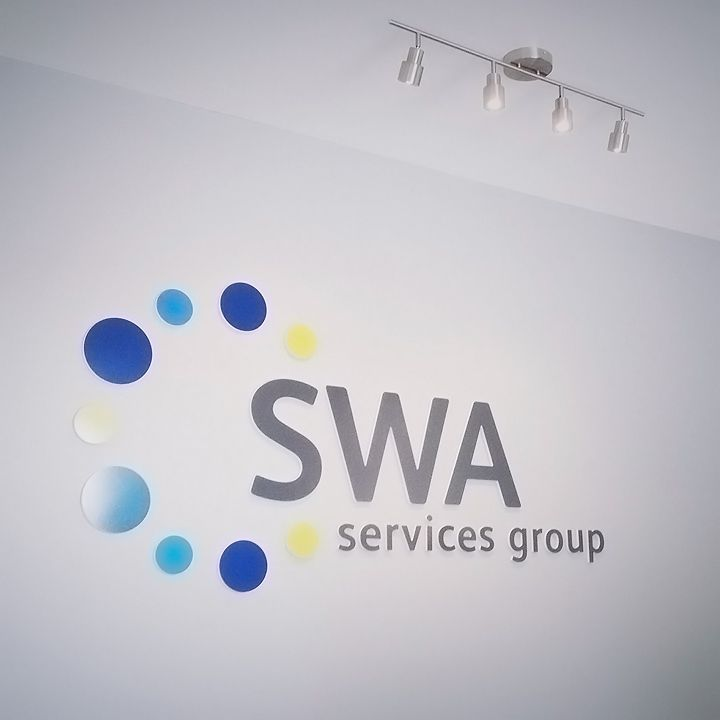 SWA Dimensional Lobby Sign