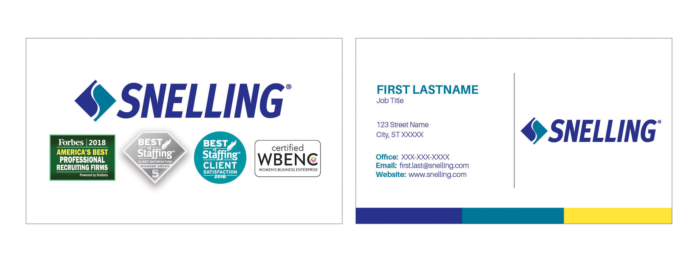 Business card with WBENC Logo (Includes Shipping)