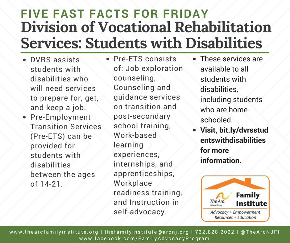 Division of Vocational Rehabilitation Services: Students with Disabilities