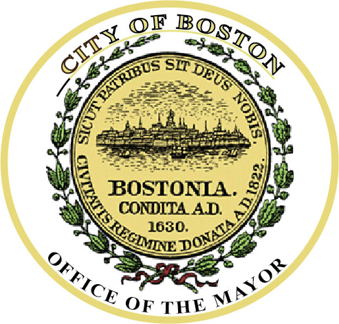 DP-1140 - Carved Plaque of the Seal of the City of Boston, Massachusetts,  Artist Painted
