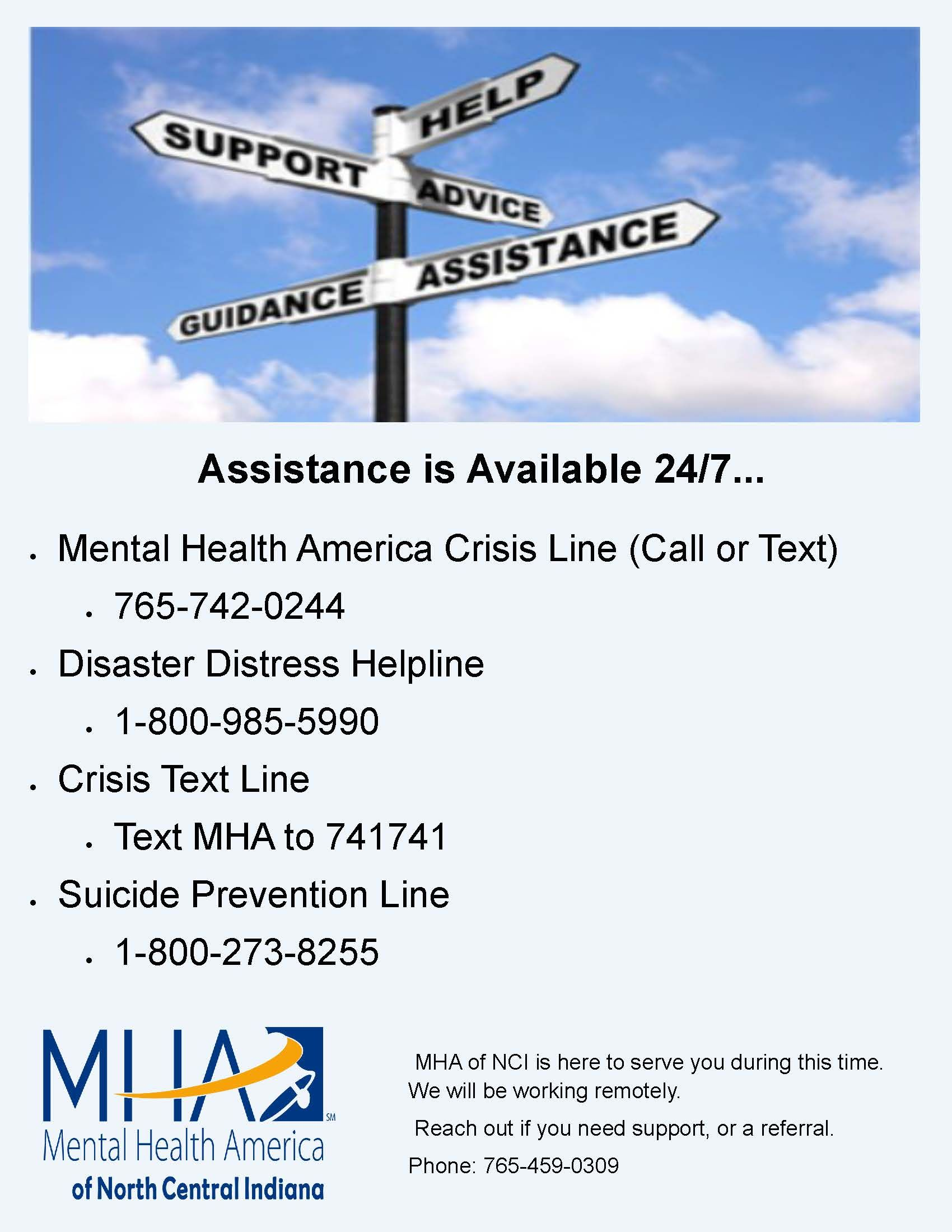 Assistance Available 24/7