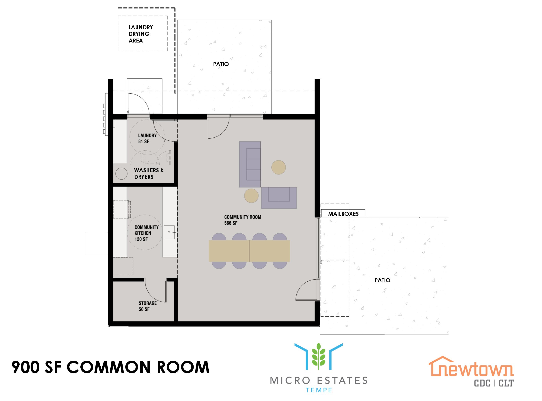 Plano de planta de la sala común