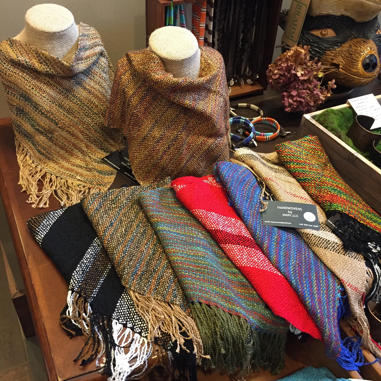 Triangular Handwoven Scarves by Mary Jarrett