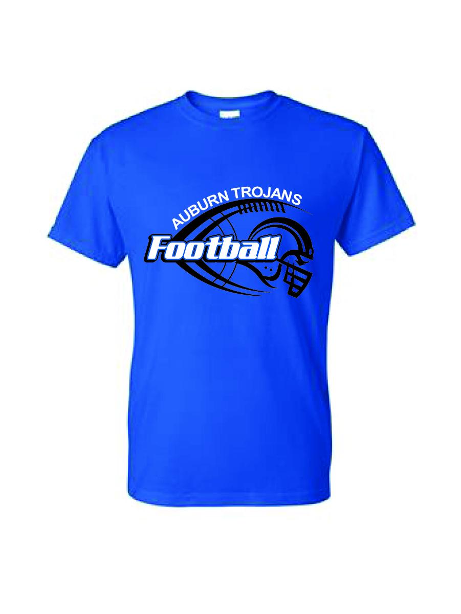 Auburn Football Helmet Short Sleeve (Blue)