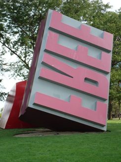 Cleveland Free Stamp Sculpture - Claes Oldenburg