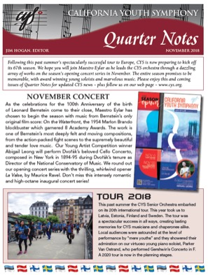 November 2018 Quarter Notes