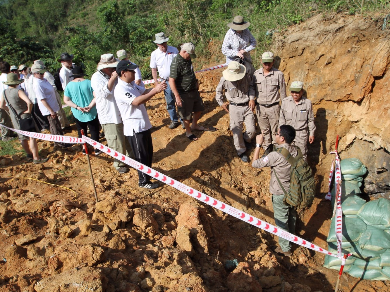 Examining UXO to be detonated
