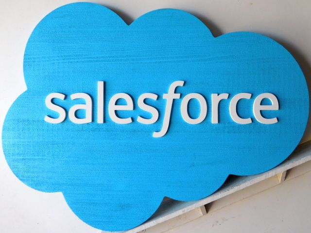 """SA28048 - Carved Wood  Sign for the """"Sales Force"""" Store"""