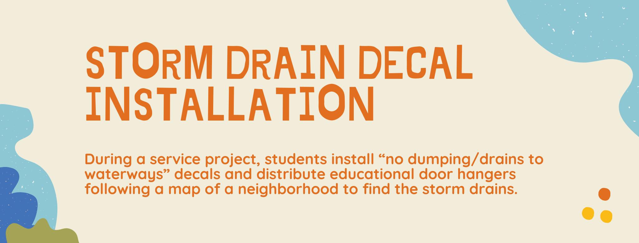 Storm Drain Decal Installation