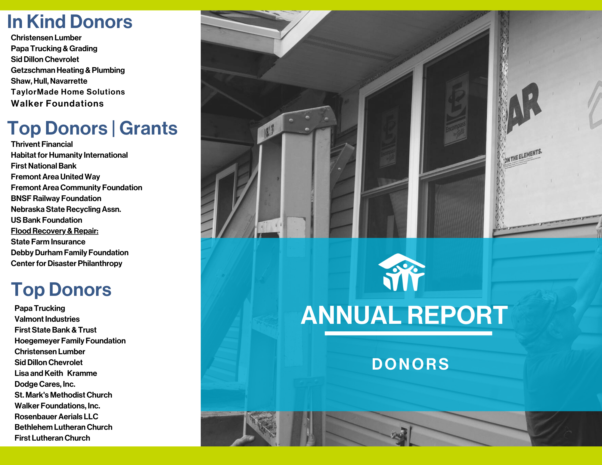 2019 Annual Report - Donors