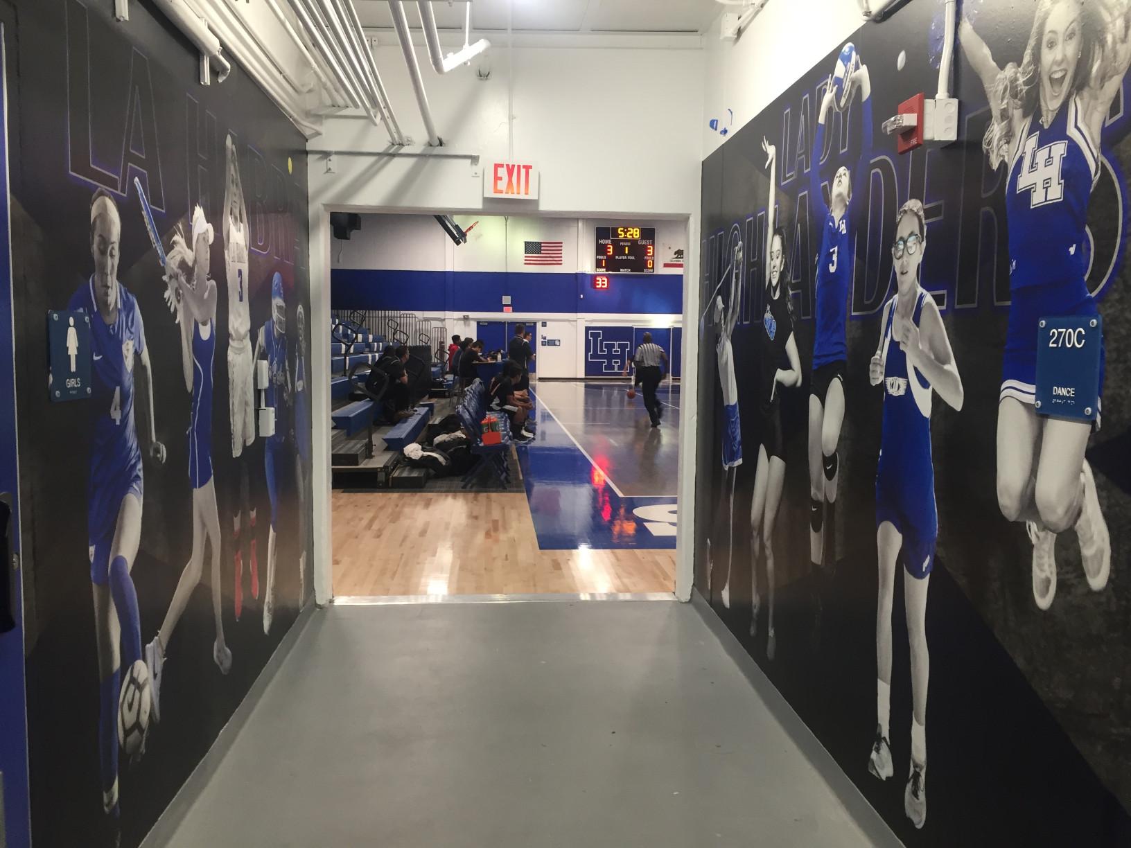 Gym Hallway Wall Murals