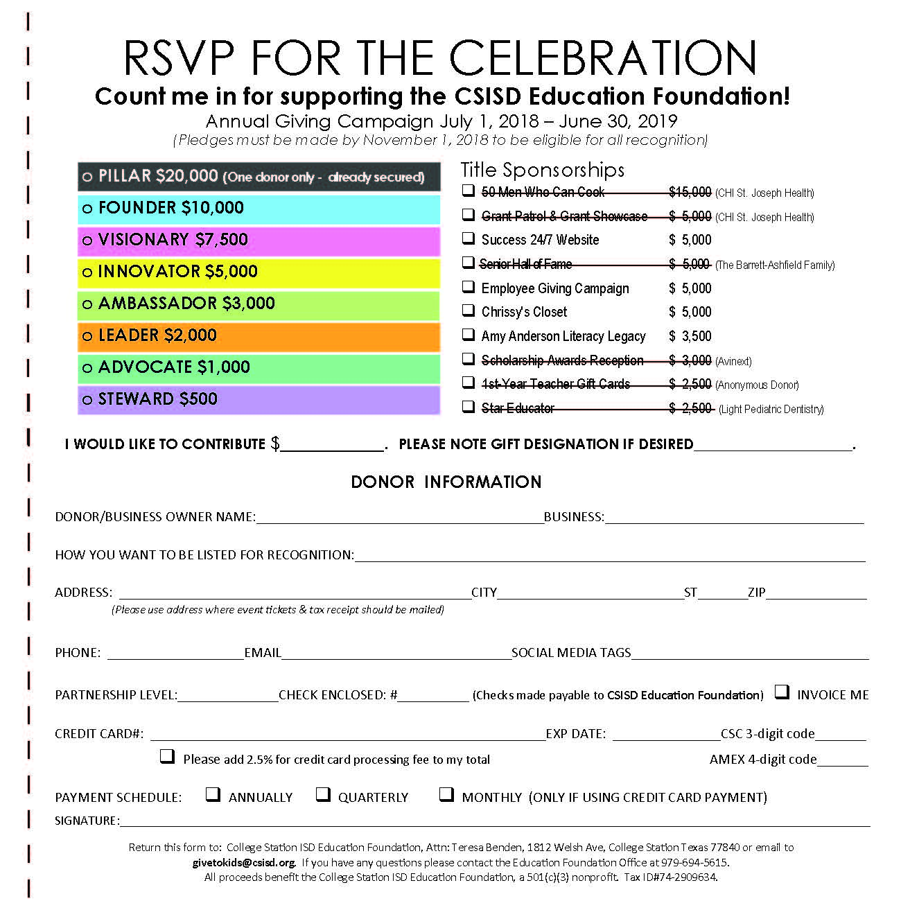 Partnering Opportunities Sign Up Sheet fillable