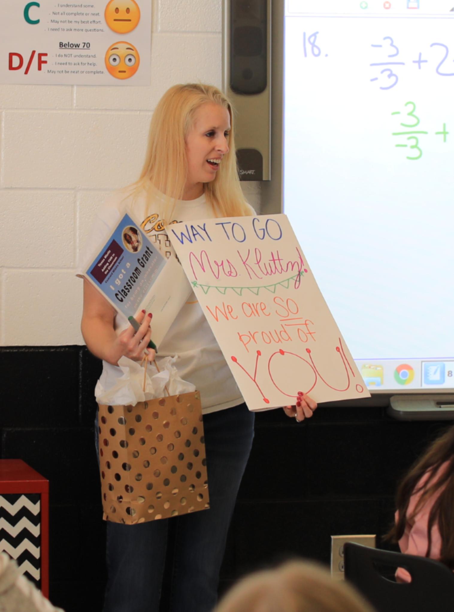 Always a Fun Day to Surprise a Teacher!