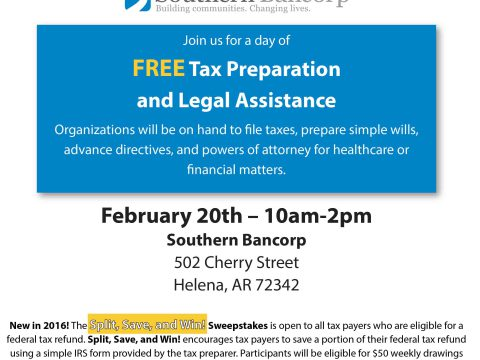 Super Saturday! Free Tax Preparation and Legal Assistance